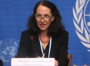 Margaret Hamburg, Commissioner of Food and Drugs, May 18, 2010 Press Conference, UN Geneva (Photo credit: Wikipedia)