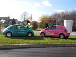 Citizens Bank & Dunkin Donuts Marketing Cars
