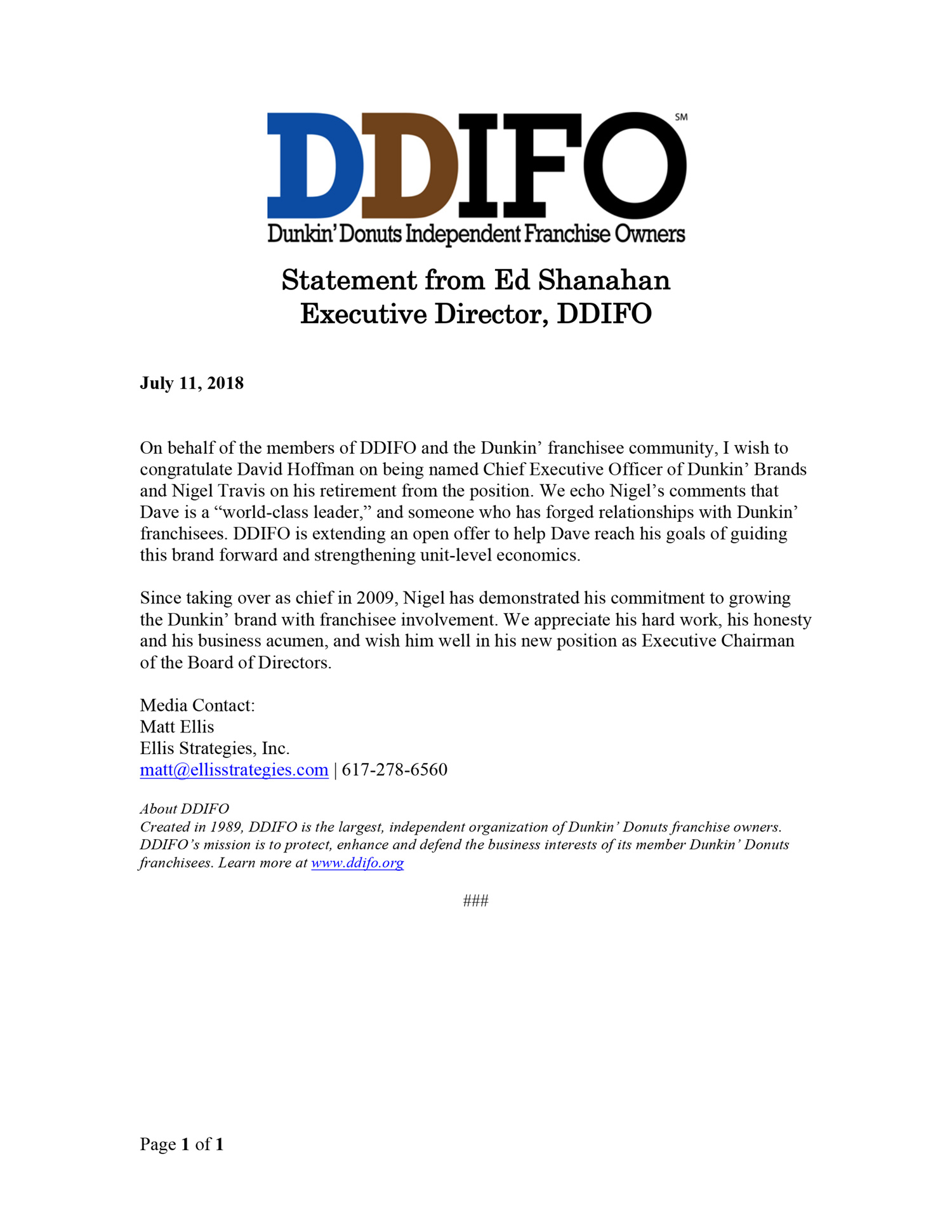DDIFO-Statement-Dunkin-Brands-Names-Hoffman-CEO-v2