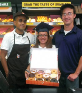 Franchise owner Adam Goldman works with guidance counselors at area high schools to identify students who could be great Dunkin' employees. Photo courtesy of Adam Goldman
