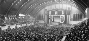 Boardwalk Hall was the site of the 1964 Democratic National Convention, at which Lyndon B. Johnson accepted the party's nomination.