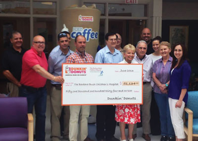 The Maine chapter of the Dunkin' Donuts & Baskin-Robbins Community Foundation helped raise over $51,000 through its Iced Coffee Day for the Barbara Bush Children's Hospital.