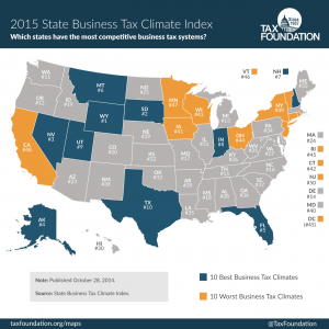 2015 State Business Tax Climate Index