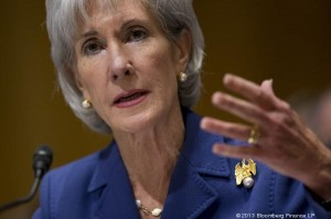 HHS Secretary Kathleen Sebelius testifies about HealthCare.gov at a Senate Finance Committee hearing Wednesday. Photo by Andrew Harrer/Bloomberg