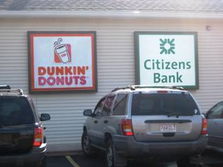 Citizens Bank & Dunkin Donuts Share the Location
