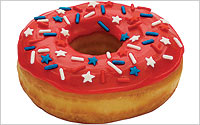 Dunkin Stars and Stripes Inauguration Donut