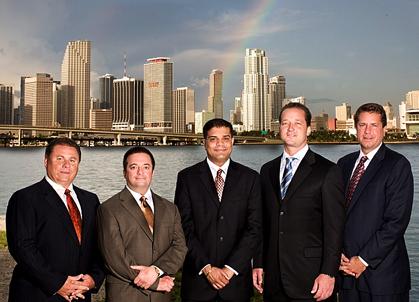 From left to right, Robert Zarco, Robert M. Einhorn, Himanshu M. Patel,